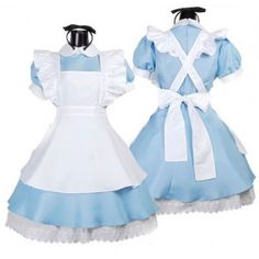 $25.89  Sky Blue Alice in Wonderland Sweet Lolita Dress Costume
