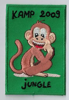 Is your camp theme 'jungle' or 'monkeys'? You should have this patch! You can upload your very own design on ibadge.com.
