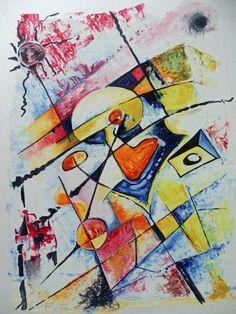 Pintura original arte moderno arte moderno abstracto por ArtEstrela