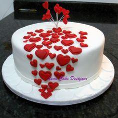 Bolo Cascata de Corações | Hearts cascade cake