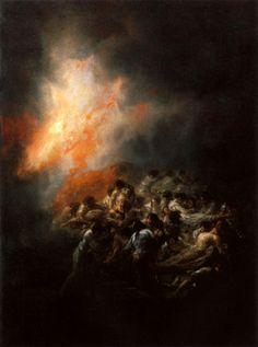 Francisco Goya Gece Yangını / Fire at Night 1793-1794. Saç Levha üzerine yağlıboya. 50 x 32 cm. Private Collection.
