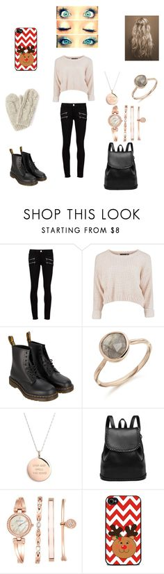 6 days till Christmas by ninakyle on Polyvore featuring Paige Denim, Dr. Martens, Anne Klein, Kate Spade and Bibico