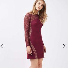 Topshop Long Sleeve Bodycon Dress