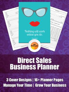 New to PaperlyPeople on Etsy: Direct Sales Planner | Business Planner For Direct Salespeople MLM Party Plan Network Marketing Calendar Worksheets Lead Sheets (17.50 USD)