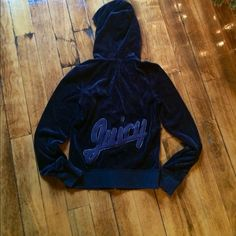 *price negotiable* Blue juicy couture velour zip u Hoodie, size small Juicy Couture Tops Sweatshirts & Hoodies
