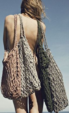 Fishing bags? Great idea!! http://fashionaccessoryshop.com/