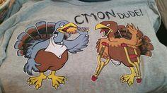 #thanksgiving & #walkingdead #crossover #shirt #goofy #funny #taintedmeat #walkers #bob #zombies #turkeys