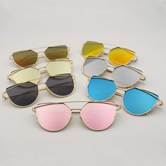 N38 2016 fashion New Women 8 Color Luxury Cat Eye Sunglasses Women Sunglasses Double-Deck Alloy Frame UV400