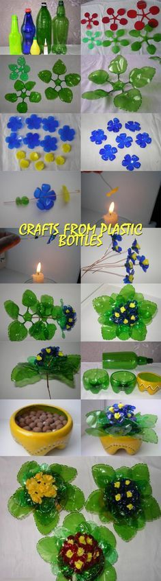 Crafts from plastic bottles GOOD HOUSEWIFE plasticbottleart Crafts from plas .Crafts from plastic bottles GOOD HOUSEWIFE plasticbottleart Crafts from plastic . Crafts from plastic bottles Water Bottle Crafts, Plastic Bottle Flowers, Plastic Bottle Crafts, Bottle Cap Crafts, Recycle Plastic Bottles, Water Bottles, Diy Craft Projects, Diy And Crafts, Crafts For Kids