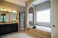 Durbin Owner's Bath with separate tub and shower