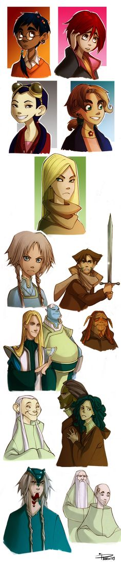 W.I.T.C.H. Characters of vol.1 by Phobs on DeviantArt