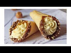Medové kornoutky / Helenčino pečení - YouTube Christmas Cookies, Cake Recipes, Garlic, Cheesecake, Muffin, Vegetables, Breakfast, Youtube, Food