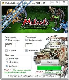 Mutants Genetic Gladiators Hack Mutants Genetic Gladiators Hack 2014