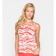 0d7aa89c03 #BeachHouse Cape Cod Tie-Dye Collection High Neck #Tankini in Coral Tankini  Top