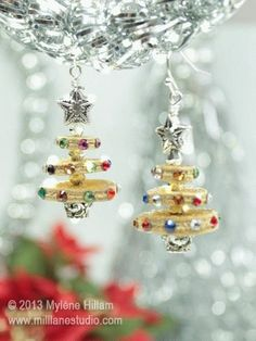 Mill Lane Studio: Sparkle Trees - Twelve Days of Christmas Earrings Extravaganza - Day 12