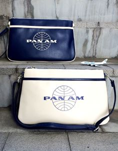 Pan Am Daily Traveler Series Clutch Bag Color : Navy, White パンナム
