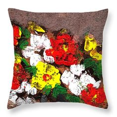 Colorful Throw Pillow featuring the painting Colorful by Cuiava Laurentiu Colorful Throw Pillows, Pillow Sale, Poplin Fabric, Fine Art America, Prints, Painting, Image, Painting Art, Paintings