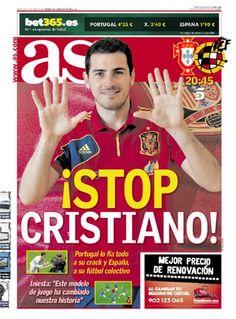 Spanje - AS: Stop Cristiano!