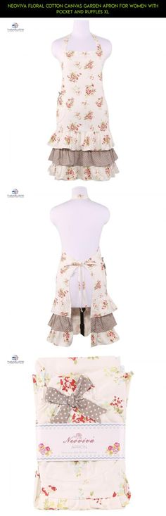 Neoviva Floral Cotton Canvas Garden Apron for Women with Pocket and Ruffles XL #gardening #products #parts #drone #fpv #with #racing #camera #pockets #tech #women #plans #shopping #kit #for #apron #gadgets #technology