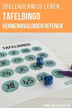 Tafels leer je het beste door te oefenen en te herhalen. Dan is spelenderwijs tafels leren wel het leukste. MoodKids bedacht Tafelbingo en je vindt hier de omschrijving en de gratis printable.