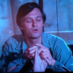 I didn't even know that this existed! Hawkeye (Alan Alda) knitting on MASH!