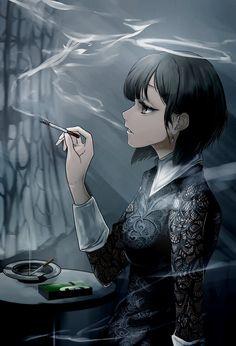 Anime Girls, Sad Anime Girl, Anime Art Girl, Manga Girl, Female Characters, Anime Characters, Yakuza Anime, Gothic Anime, Beautiful Fantasy Art