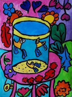 Matisse, pattern, contour lines, color theory, technique, movement, overlap-space, ...