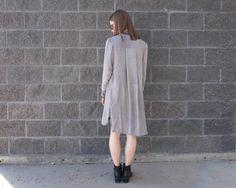 #minimal #minimalstyle #minimalfashion #minimalandchic #myaritzia #denim #shirtdress #tunic