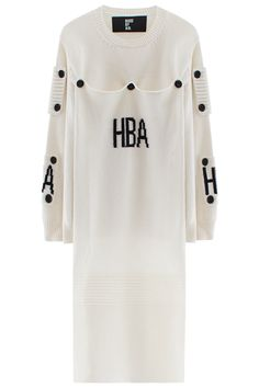 Hood By Air LONG BUTTON PATCH SWEATER