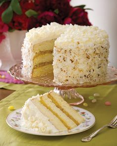 Tropical Coconut Cake - Favorite Spring Desserts to Complete Your Easter Menu - Southern Lady Magazine