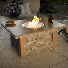 Outdoor GreatRoom Sierra Gas Fire Pit Table