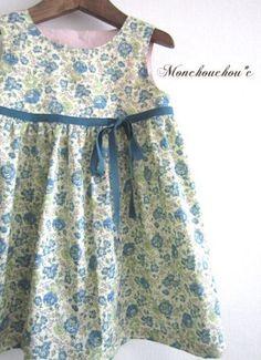 リバティプリントの子供服,ワンピース