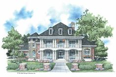 Plantation House Plan with 3613 Square Feet and 4 Bedrooms(s) from Dream Home Source | House Plan Code DHSW42367