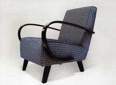 Czechoslovakia design, restored chair, Halabala design