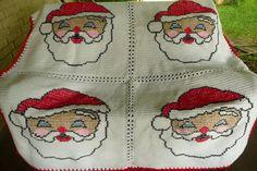 Santa Clause Crochet Afghan Throw Blanket Great by maltesedreamer