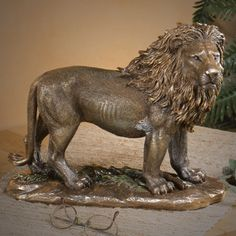 Bronze Lion Sculpture - Creations and Collections