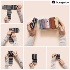 3 Fast and Easy Ways of Folding Socks and Leggings - Homganize Dresser Drawer Organization, Closet Organisation, Sock Organization, Organizing, Folding Socks, Sock Storage, Diy Rangement, Clothing Hacks, Getting Organized
