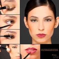 Aprenda a fazer um look sofisticado, combinando sombra verde e batom vinho. http://www.adoromaquiagem.com.br/dicas-maquiagem/novidades-tendencias/batom-matte-no-verao/16620/ #NaturaUna #maquiagem #dica