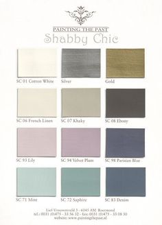 Painting the Past - myshabbychicdecor... #bedroom #bathroom #kithcen These are suggested colors for paint for shabby chic lovers/. #shabbychicbathroomscolors