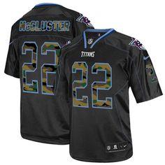 Dexter McCluster Men's Elite Black Jersey: Nike NFL Tennessee Titans Camo Fashion #22