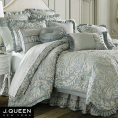 Vanderbilt Comforter Bedding by J Queen New York ~ Our new King Comforter