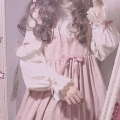Find images and videos about girl, cute and pink on We Heart It - the app to get lost in what you love. Baby Pink Aesthetic, Angel Aesthetic, Princess Aesthetic, Aesthetic Girl, Aesthetic Clothes, Kawaii Fashion, Lolita Fashion, Cute Fashion, Creepy Cute