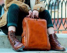 Backpack brown leather Laptop bag | Etsy Brown Leather Laptop Bag, Vintage Leather Backpack, Leather Laptop Backpack, Unique Backpacks, Vintage Backpacks, Disney Backpack, Travel Backpack, Macbook, Laptop Bag For Women