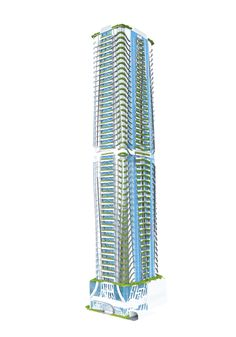 Design 8 / Proposed Corporate Office Building / High-rise Building / Architectural Layouts / Perspective / Plates