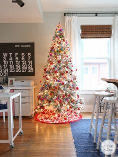 Flocked Christmas Tree Calendar is fromhttp://www.stendigcalendar.com/Stendig_Calendar/Order.html