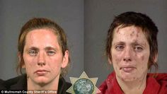 """Here you have some mugshots of drug addicts that use meth, it is part of the project """"Faces of Meth"""" by Multnomah County Sheriff's Office. Description from pinterest.com. I searched for this on bing.com/images"""