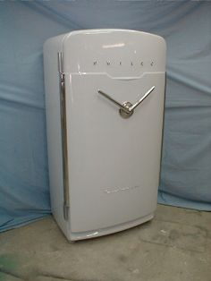 "Philco V-handle Refrigerator- ""The door opens from both sides depending which way you pull the handle"""