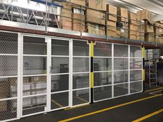 Our Security Enclosures creating a security area within warehouse; fitted recently in Central London. Cage, Warehouse, Ranch, London, Future, Guest Ranch, Future Tense, Magazine, Barn