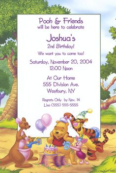 Winnie The Pooh Birthday Invitation Template Http - Birthday invitation templates winnie pooh