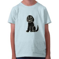 Funny Labradoodle Cartoon Shirt #labradoodle #dog #shirt #funny #animals #zazzle #petspower